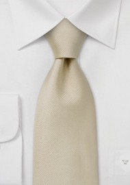Single colored silk tie Champagne color