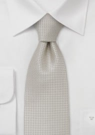 Wedding tie  -  Festive silk tie in platinum silver