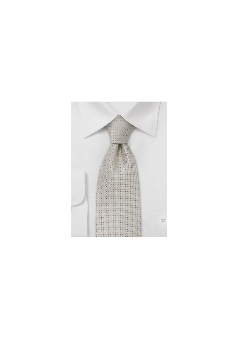 Wedding tie  -  Festive silk tie in platinum silver