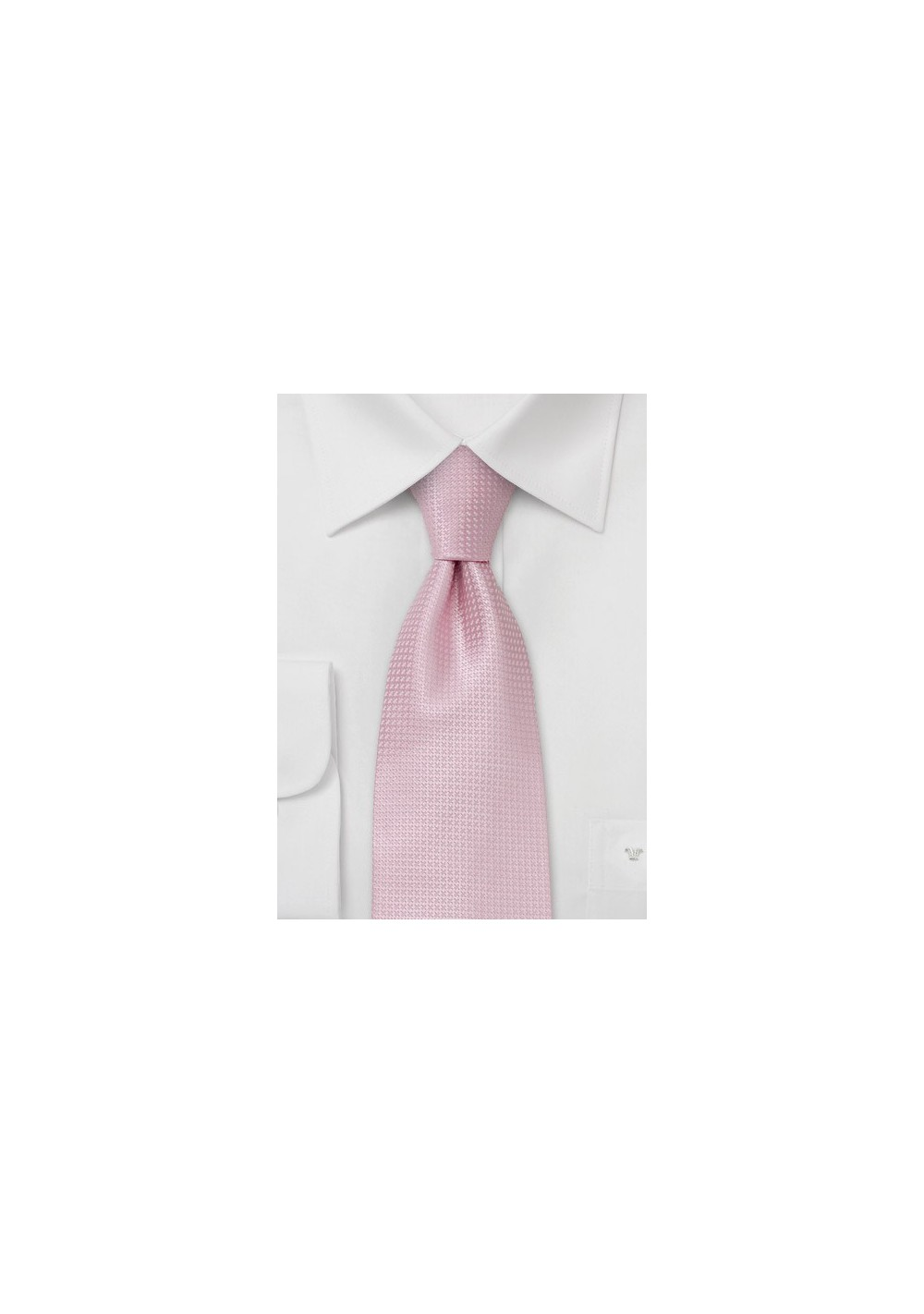 Spring and Summer tie  -  Solid colored pink tie with fine pattern