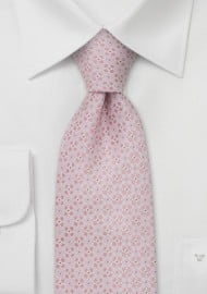 Designer neckties - Handmade silk tie in light pink