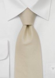 Solid color ties -  Handmade silk tie in solid cream color