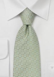 Designer neckties - Light green silk tie
