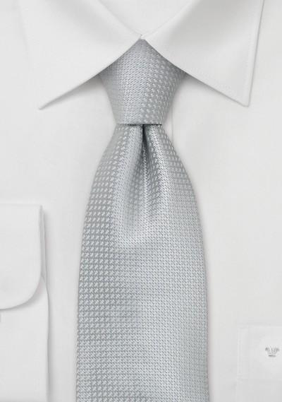 Silk Neckties -  Elegant Silver Colored Silk Tie