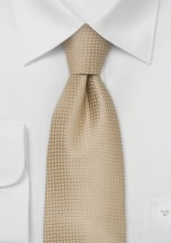 Silk neckties - Light beige colored silk tie