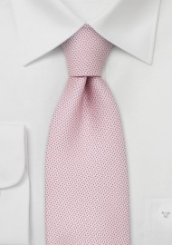 Designer neckties - Light pink silk tie by Chevalier