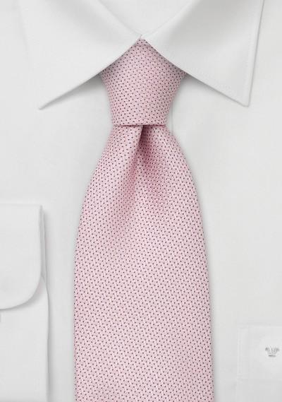 Designer neckties - Light pink silk tie by Chevalier