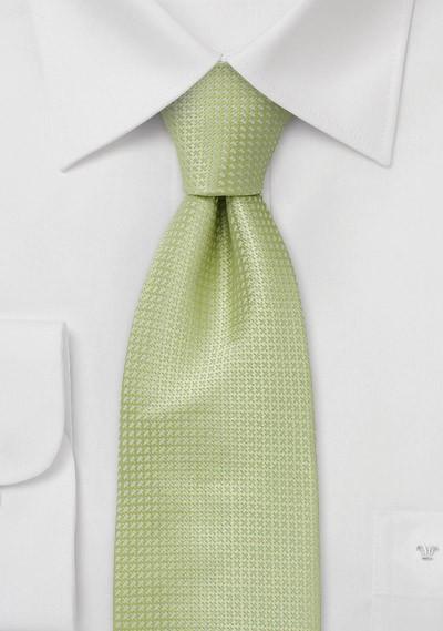 Green Extra Long Ties - Light Green Silk Tie in XL