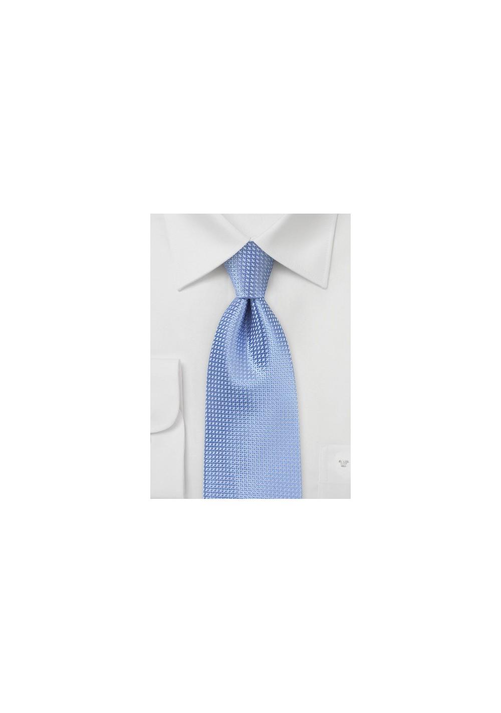 Blue Extra Long Ties - Sky blue XL necktie