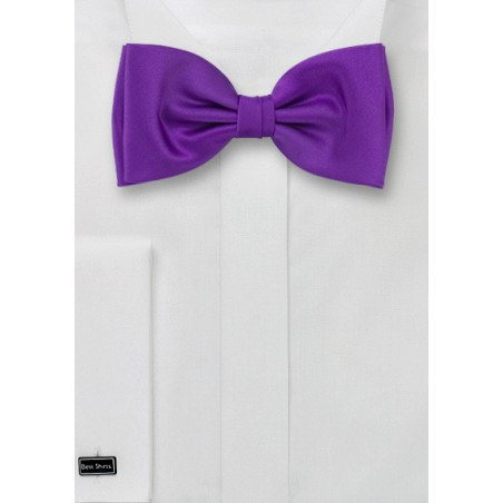 Purple bow ties  -  Solid color purple bow tie