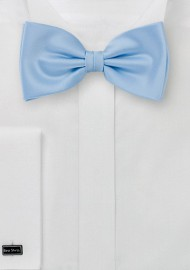 Bow ties  -  Light blue solid color bow tie