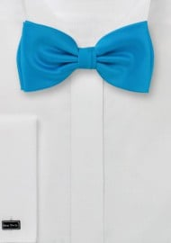 Bow ties -  Solid color turquoise  blue