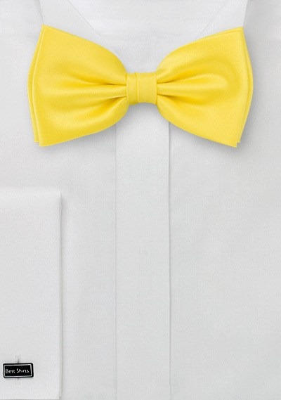 Yellow bow tie  - Pre-tied bow tie in yellow