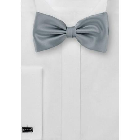 Silver bow tie - Formal bow tie in solid silver