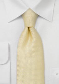 Men's neck ties -  Light lemon-yellow tie