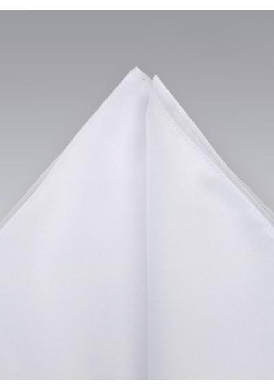 White pocket square -  Classic bright white hankie