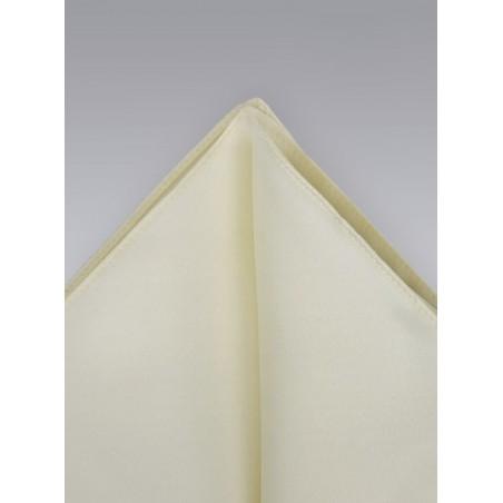 Pocket Squares -  Cream colored hankie