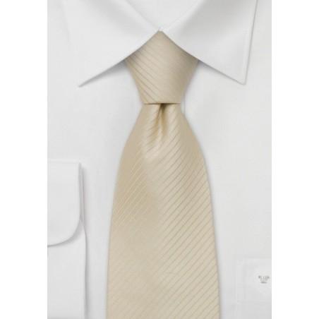 Extra long ties - Cream/tan colored XL-Necktie