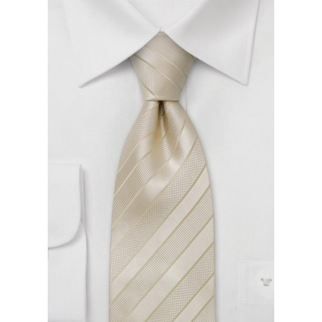 Elegant Wedding Necktie in XL Length