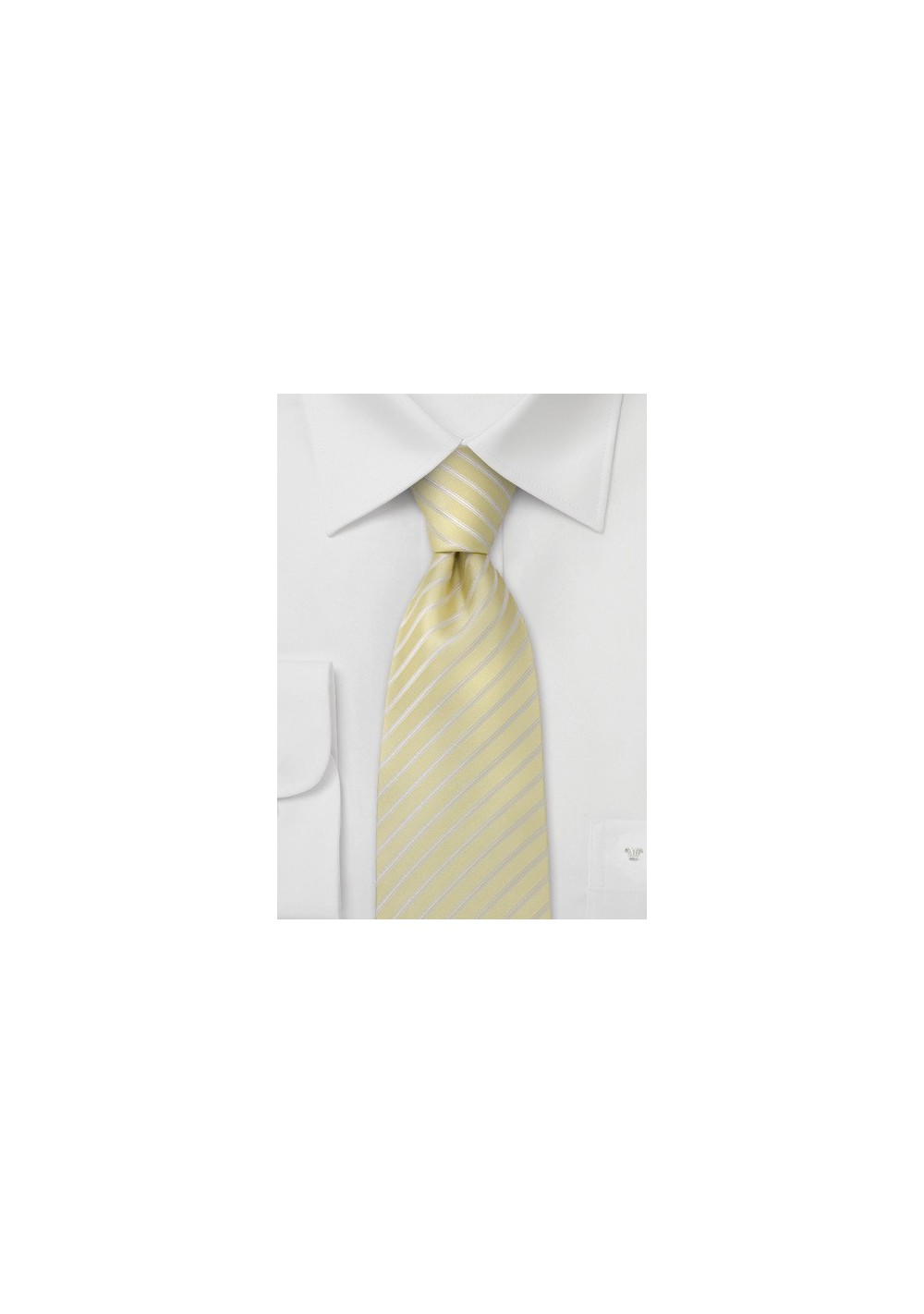 Vanilla Yellow Silk Tie for Kids