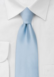 Solid light blue ties - Light blue men's necktie