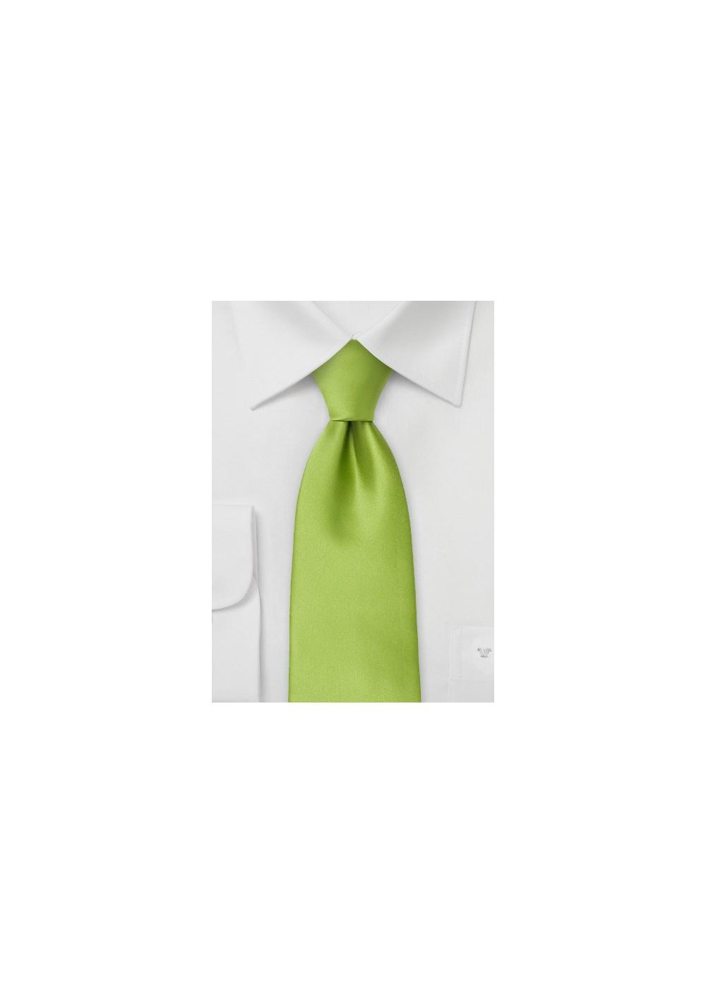 Solid color ties - Bright green necktie