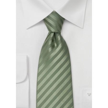 Green Silk Tie