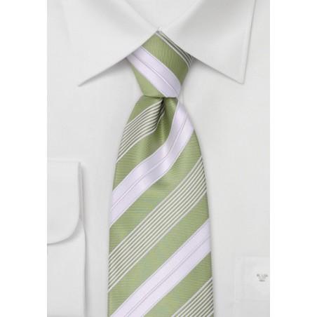 Lime green neckties - Modern striped green tie