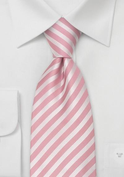 Pink Neckties - Modern Striped Pink Tie
