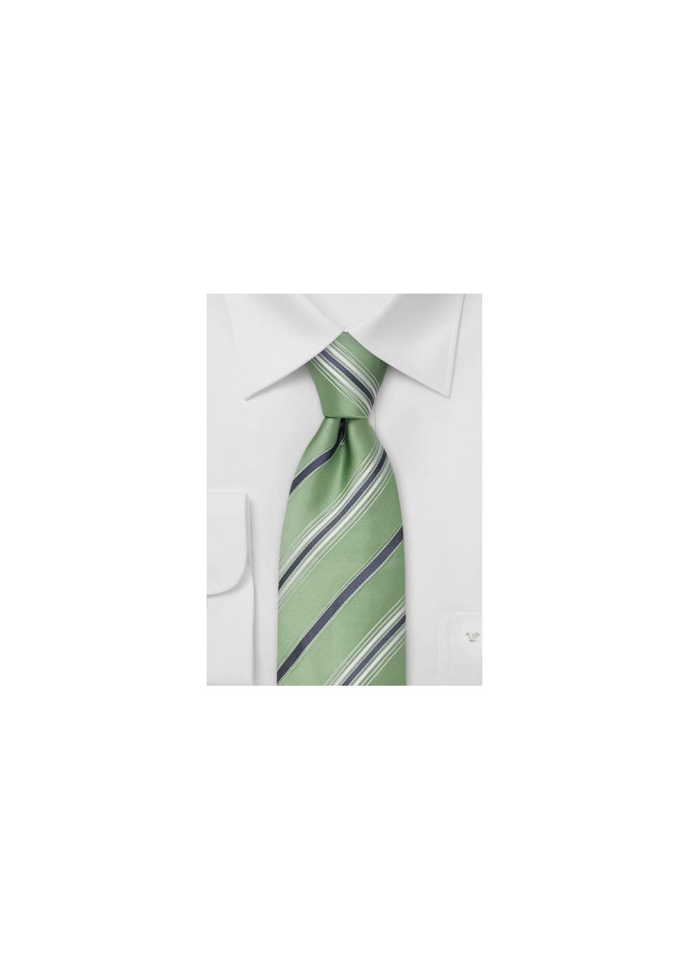 Mint Green Silk Ties - Green Designer Tie by Cavallieri