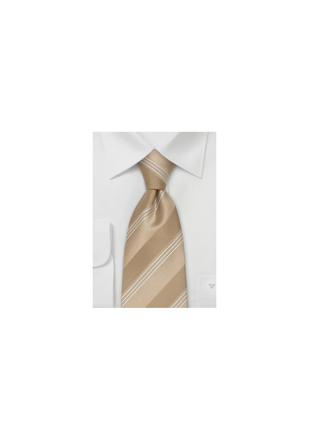 Italian Design Neckties - Tan Necktie by Cavallieri