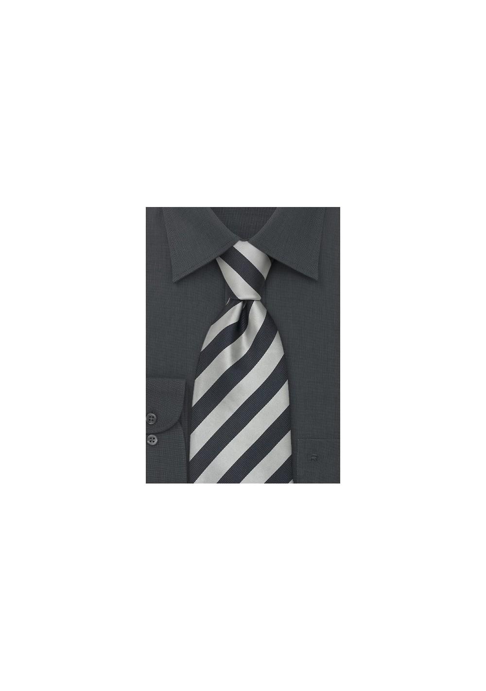 "Striped Extra Long Silk Ties - Striped Tie ""Identity"" by Parsley"