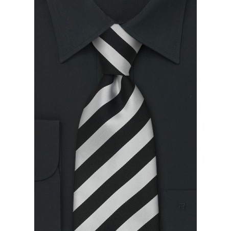 """Extra Long Business Ties - Striped Necktie """"Identity"""" by Parsley"""