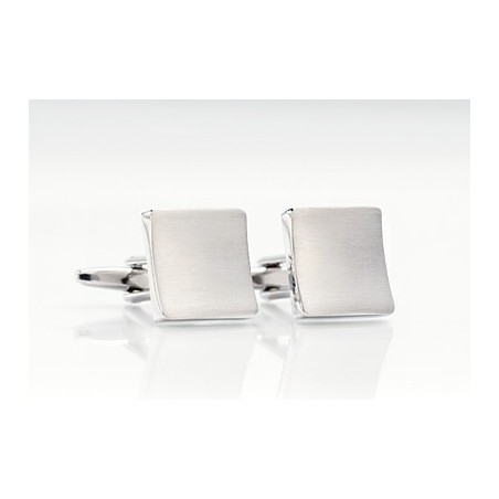 Cufflinks - Brushed Silver Cufflinks