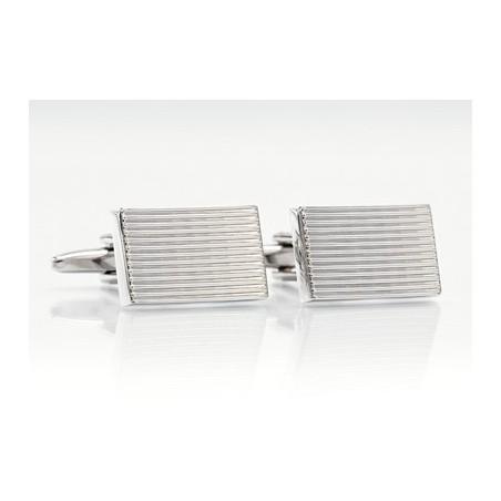 Plain Silver Cufflinks - Classic silver cufflinks by Mont Pellier