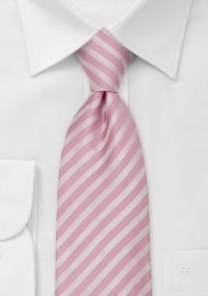 Pink Mens Ties - Pink Tie With Stripe Pattern