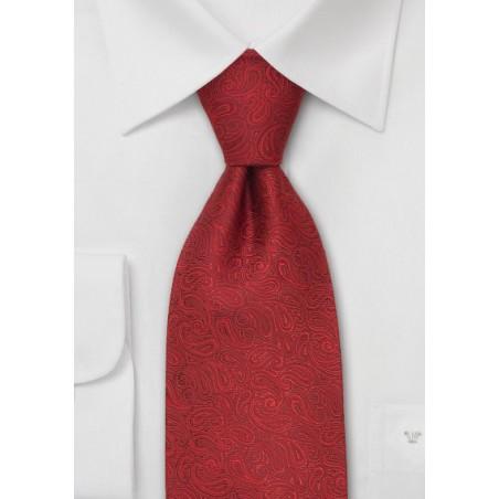 Modern Paisley Necktie by Chevalier