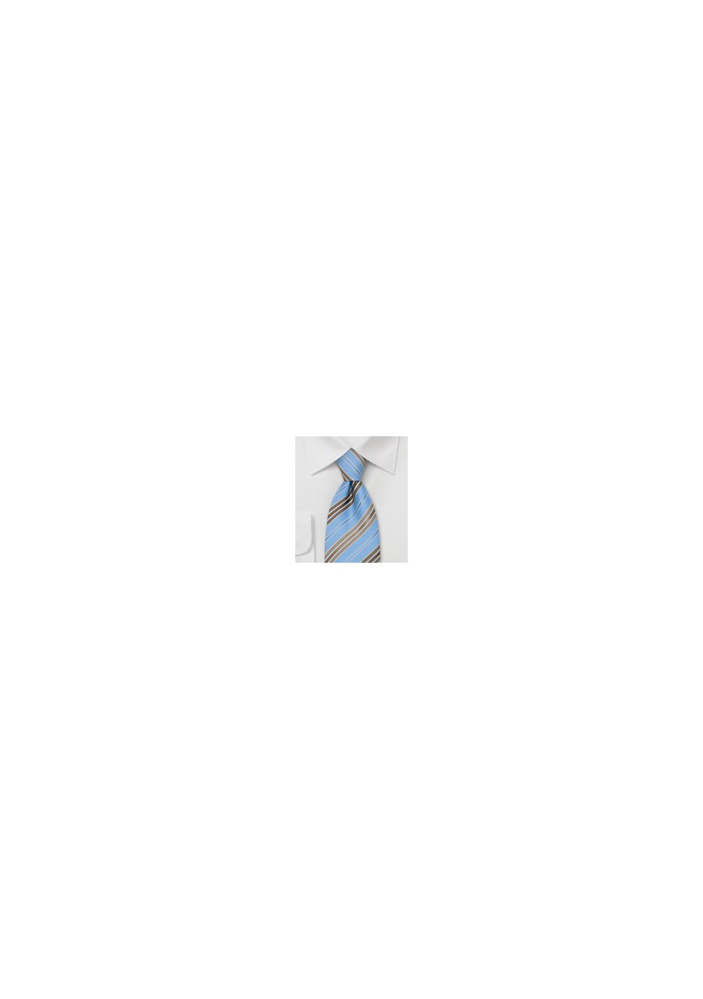 Blue and Brown Ties - Striped Necktie in Blue and Brown