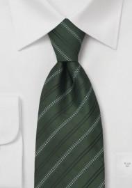 Green Neckties - Striped Tie in British Racing Green Color