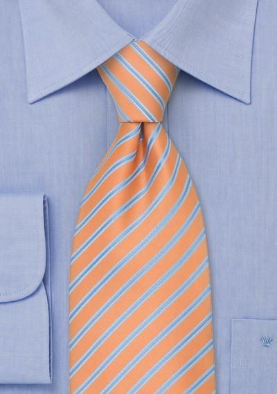 Pink-Orange Striped Necktie