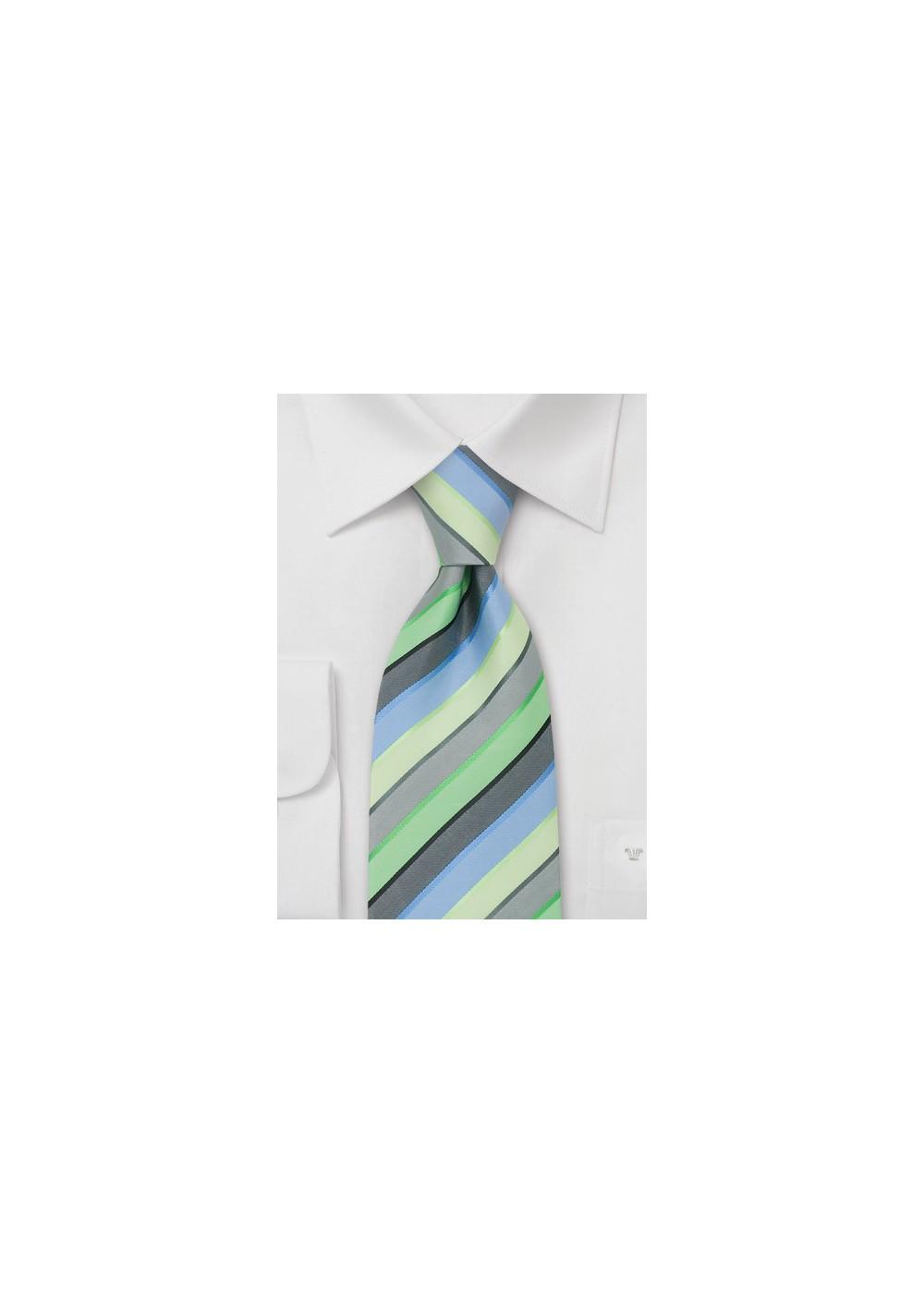 Trendy Striped Necktie