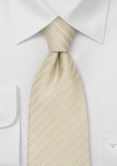 Classic Wedding Tie in Light Champagne