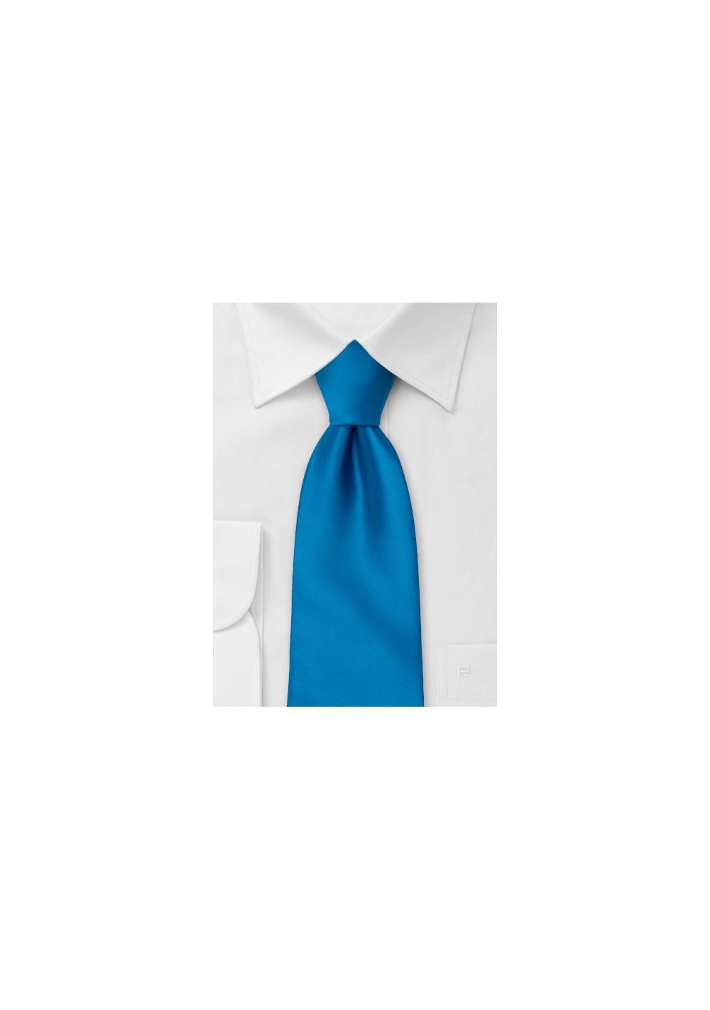 Solid Bright Blue Necktie