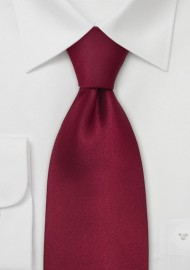 Kids Silk Tie in Cherry Red