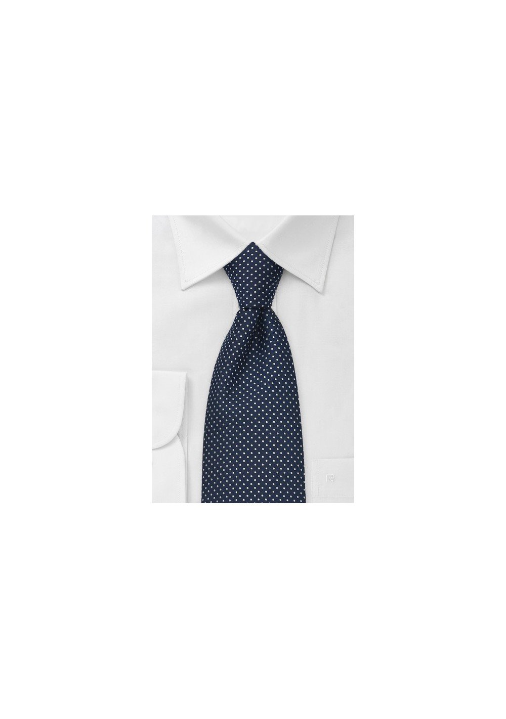 Sapphire Blue Necktie With Tiny White Dots