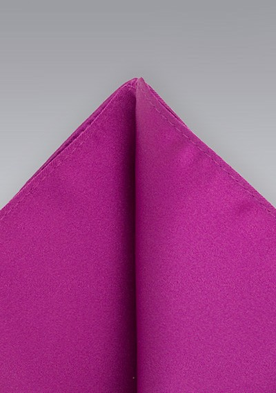 Deep Purple Solid Handkerchief Pocket Square Hanky Wedding