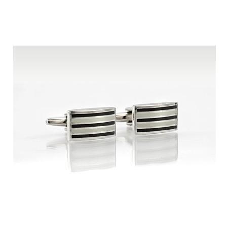 Formal Designer Cufflinks in Black & White