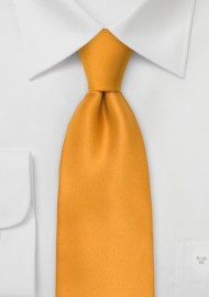 Extra Long Tie in Amber Yellow