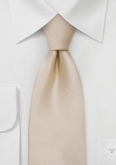 Solid Silk Tie in Champagne Color