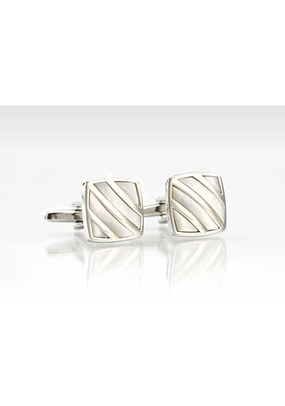 Festive Cufflinks With Mother-of-Pearl Inlay